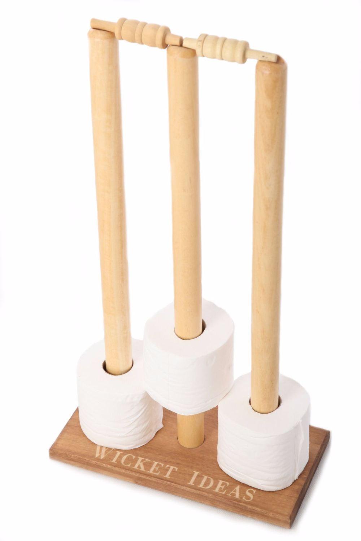 Cricket Stumps Loo Roll Holder - Personalisation