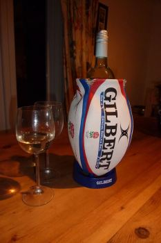 2ND ONLY - England Rugby Ball Wine Cooler