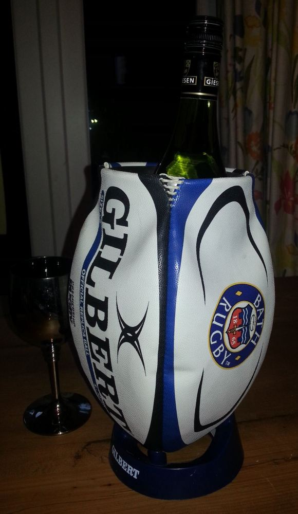 Bath Rugby Ball Wine Cooler