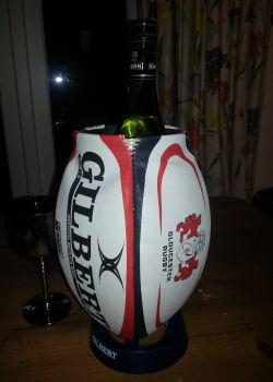 Gloucester Rugby Ball Wine Cooler
