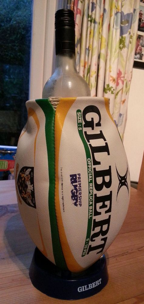 Northampton Saints Rugby Ball Wine Cooler