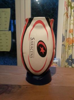 Saracens Rugby Ball Wine Cooler