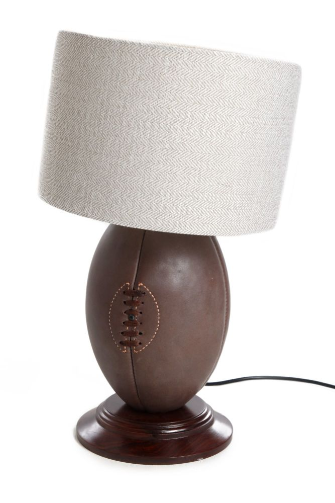 Vintage Rugby Ball Light WITHOUT Lampshade