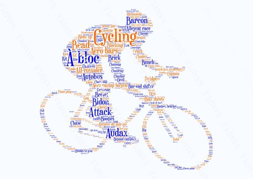 Cycling Print - Coloured on White