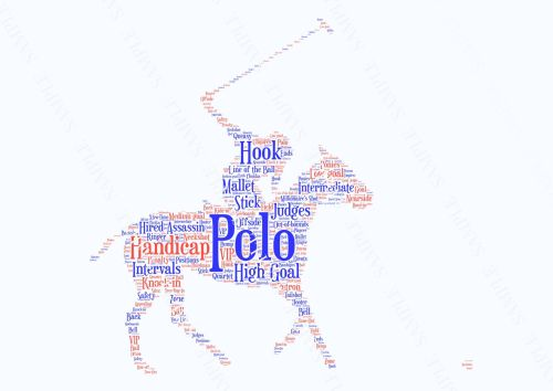Polo Print - Coloured on White