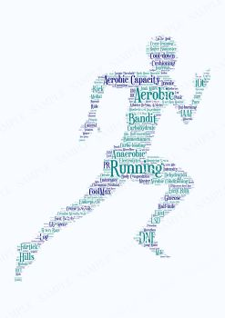 Running Print - Coloured on White