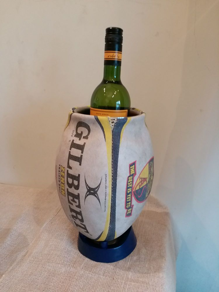 Bespoke Rugby Ball Wine Cooler