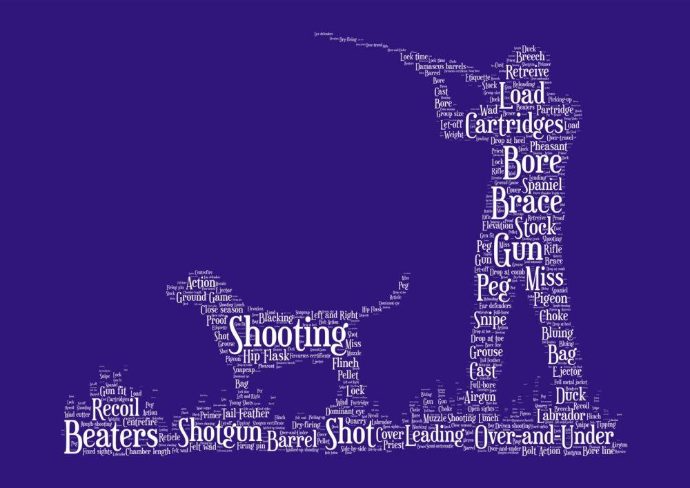 Shooting Print - White on Indigo
