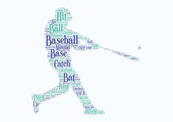 Baseball Print - Coloured on White