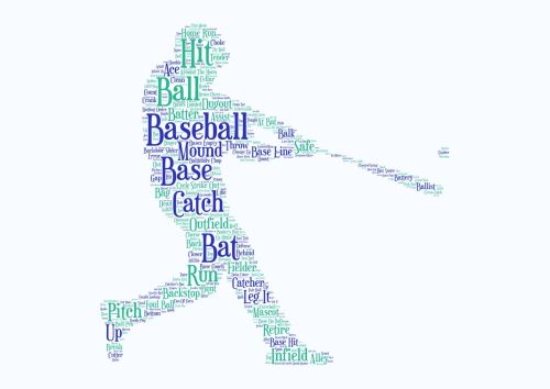 Baseball Print - Coloured on White