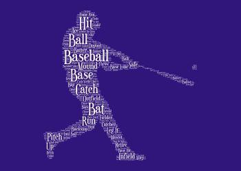Baseball Print - White on Navy