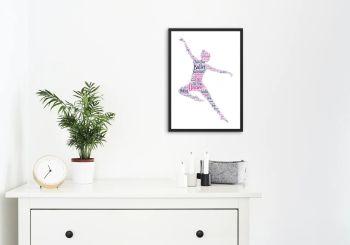 Dance Print - Coloured on White