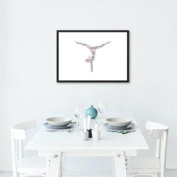Gymnastics Print - Coloured on White