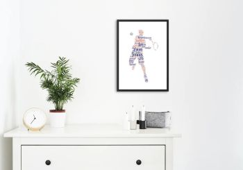 Tennis Print - Coloured on White