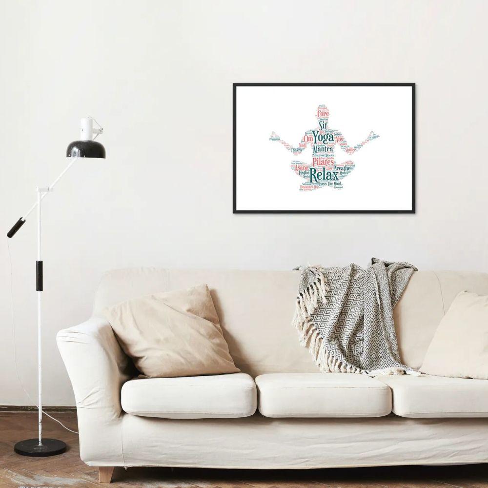 Yoga Print - Coloured on White