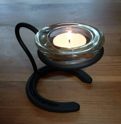 Horse Shoe Candle Holder - Single