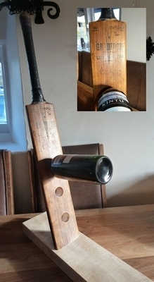 Cricket Bat Wine Rack - Vintage