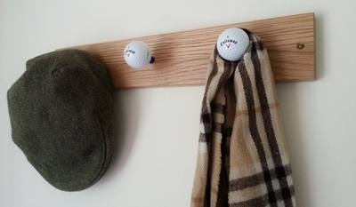 Golf Ball Coat Rack