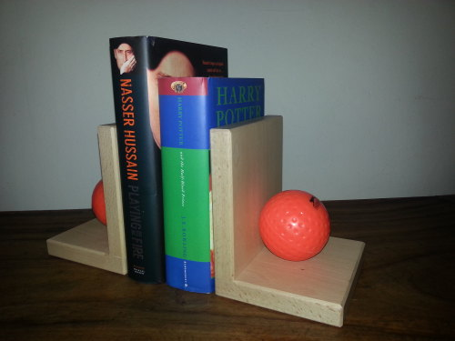 Hockey Ball Book Ends