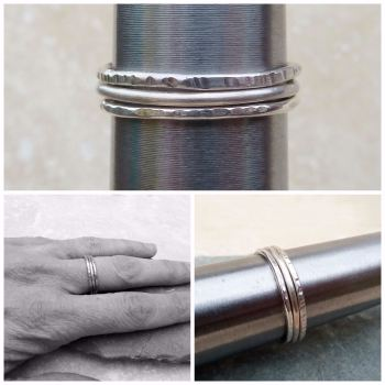 Sterling Silver Stacker Ring Set - Made to Order