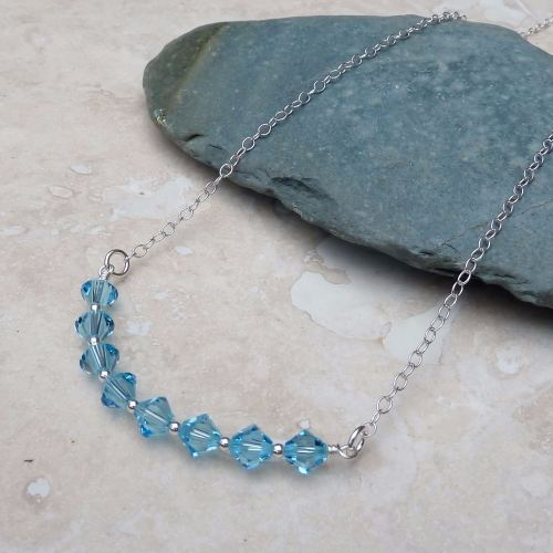 Aquamarine and Silver Necklace