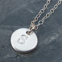 Fine Silver Single Initial Charm Necklace