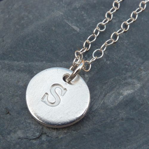 Personalised Initial Silver Charm Necklace