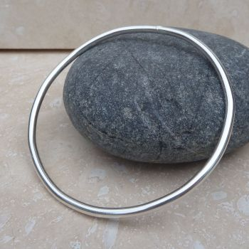 3 mm Thick Sterling Silver Polished Bangle
