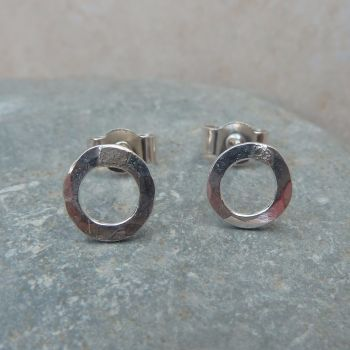 Sterling Silver 6mm Hoop Stud Earrings