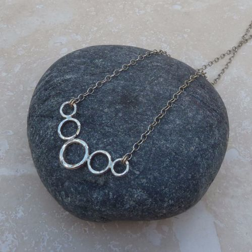 Sterling Silver Five Ring Necklace