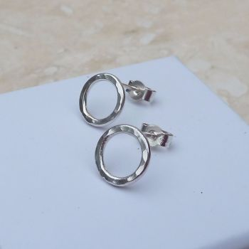 Sterling Silver 10mm Hoop Stud Earrings