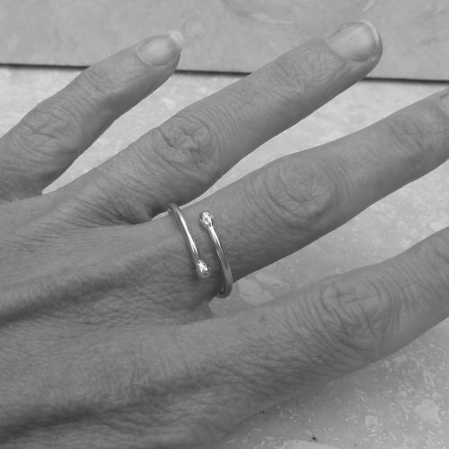 Sterling Silver Overlap Wrap Ring - Size P