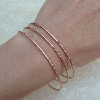 Copper Bangle Set (Set of Three)