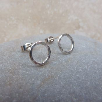 Sterling Silver 8mm Hoop Stud Earrings