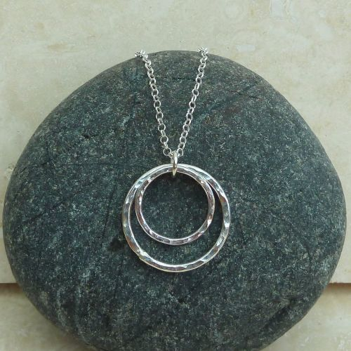 Sterling Silver Double Ring Pendant