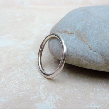 Sterling Silver 2 mm Polished Ring Band - Made to Order