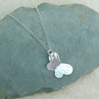 Sterling Silver Hammered Butterfly Necklace