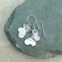 Sterling Silver Hammered Butterfly Earrings