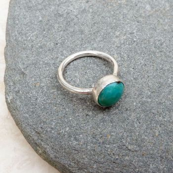 Sterling Silver and Turquoise Ring - UK Size M