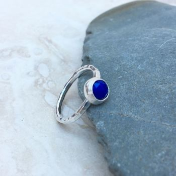 Silver and Lapis Lazuli Ring
