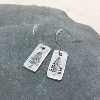 Silver Evergreen Tree Earrings