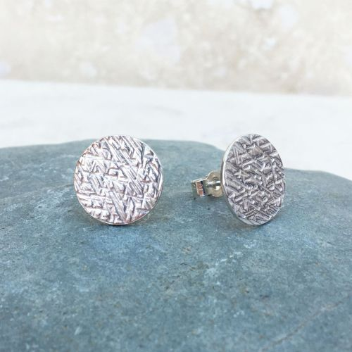 Sterling Silver Large Criss Cross Stud Earrings