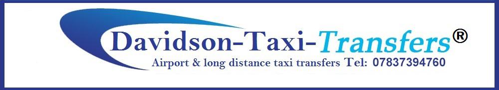 www.davidsontaxitransfers.com, site logo.