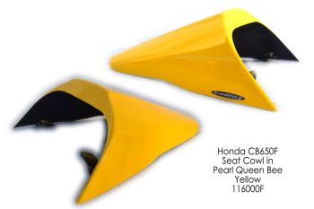 Honda CB650F (14+) Solo Seat Cowl: Pearl Queen Bee Yellow