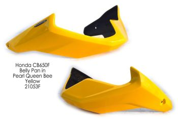 Honda CB650F (2014+) Belly Pan: Pearl Queen Bee Yellow 21053F