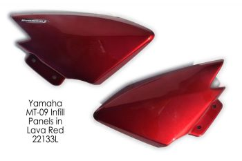 Yamaha MT09 / FZ09 (13-16)  Frame Infill Cover Panels (pair) : Lava Red 22133L