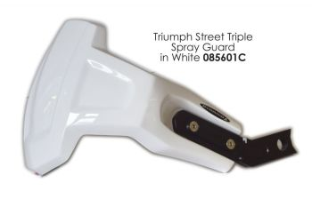 Triumph Street Triple 675 Rear Spray Guard  Rear Hugger Alternative Gloss White 085601C