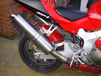 Honda VTR1000 SP-1 (00-01) Rear Hugger: Gloss Red 07124D