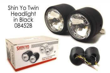 SHIN YO Twin Headlights: Shiny Black PAA223-336