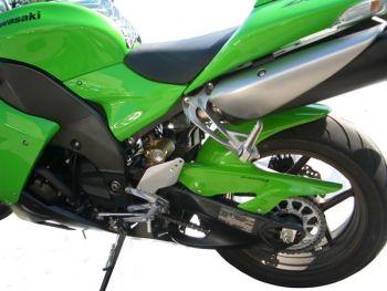 Kawasaki ZX10-R (06-07) Rear Hugger: Gloss Green 07371D